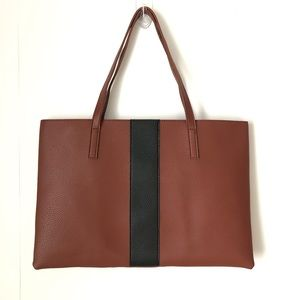 VINCE CAMUTO Luck Tote Vegan Leather Brown NWOT